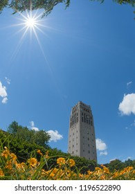 Ann Arbor, Michigan/USA - June 2016. Burton Memorial Tower, a clock tower located on the central campus of the University of Michigan, Ann Arbor.