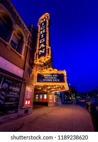 Ann Arbor/Michigan - July 2016: Michigan Theatre, built in 1928. An iconic theatre of Ann Arbor. It's the current home of Ann Arbor Film Festival and Ann Arbor Symphony.