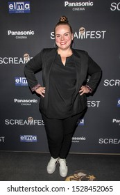 """Anna Megan Becker attends 19th Annual Horror Film Festival – ScreamFest - Opening Night """"Eat, Brains, Love"""" Los Angeles Premiere at TLC Chinese Theatre, Hollywood, CA on October 8, 2019"""
