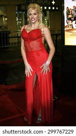 """Anna Nicole Smith attends the Los Angeles Premiere of """"Be Cool"""" held at the Grauman's Chinese Theater in Hollywood, California on February 14, 2005."""