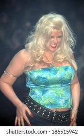 Anna Nicole Smith at LANE BRYANT LINGERIE FASHION SHOW, NY 2/5/2002
