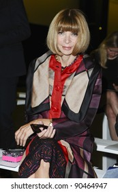 Anna Wintour at the Matthew Williamson Spring Summer 2012 show at London Fashion Week, London. 18/09/2011 Picture by: Steve Vas / Featureflash