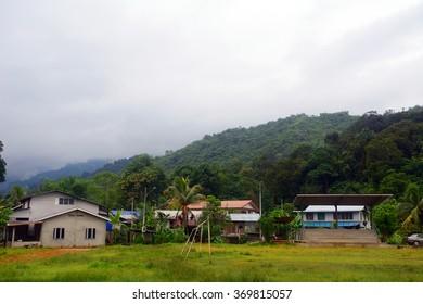 ANNAH RAIS - JANUARY 21 : Bidayuh village on 21 January 2016 at Annah Rais, Malaysia. Bidayuh are a former head-hunter Dayak tribe in Borneo.