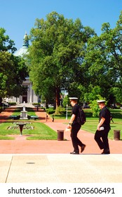 Annapolis, MD, USA May 8, 2011 Cadets walk across the campus of the United States Naval Academy in Annapolis, Maryland
