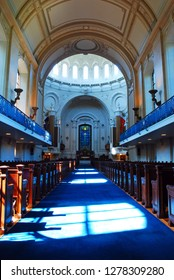 Annapolis, MD, USA May 8, 2011 The interior of the Cadets Chapel, at the United States Naval Academy in Annapolis, Maryland, is designed in the classic architecture of historic churches