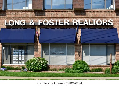 ANNAPOLIS, USA - MAY 27, 2016: A Long & Foster Realtor building in Annapolis Maryland. Long & Foster is one of the largest privately owned real estate companies in the United States.