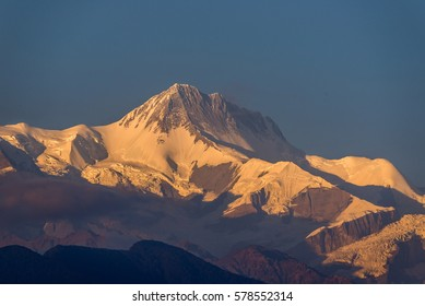 Annapurna III in sunset, from Pokhara