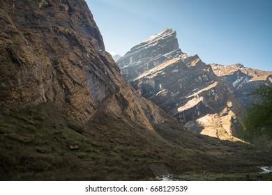 Annapurna sanctuary trek in Nepal Himalaya