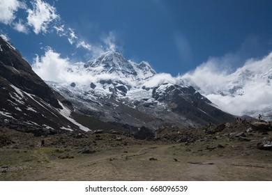 Annapurna south (7219m) Annapurna base camp in Nepal Himalaya