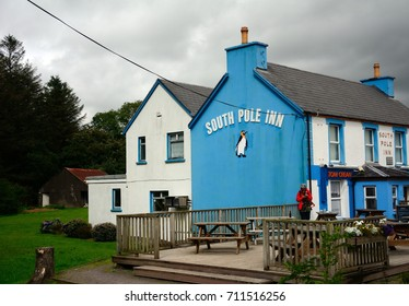 ANNASCAUL, IRELAND - AUGUST 10: South Pole Inn on 10 August 2017 at Annascaul. South Pole Inn was owned by Tom Crean, the famous Antarctic explorer.