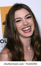 Anne Hathaway at the 15th Annual Hollywood Film Awards Gala Press Room, Beverly Hilton Hotel, Beverly Hills, CA 10-24-11