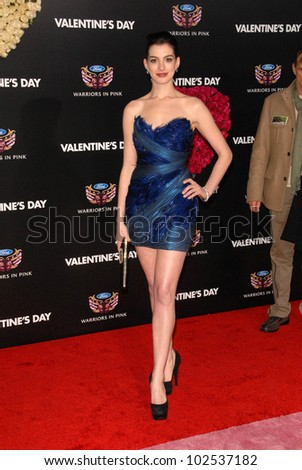 Anne Hathaway Valentines Day World Premiere Stock Photo Edit Now