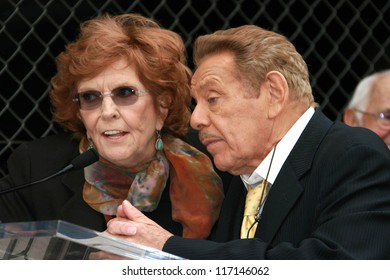 Anne Meara and Jerry Stiller at the ceremony honoring Jerry Stiller and Anne Meara with a star on the Hollywood Walk of Fame. Hollywood Boulevard, Hollywood, CA. 02-09-07