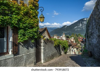 Annecy is called  the Venice of Savoie. The medieval town center built around a 14th Century Chateau is dissected by small canals and streams running out of Lac Annecy. France