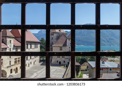 ANNECY / FRANCE - JULY 2015: Inner yard of Annecy castle, France