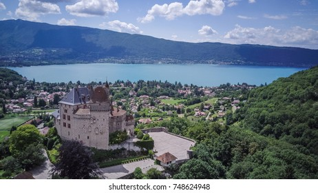 Annecy lake from above