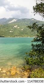 Annecy lake landscape, Savoy, France