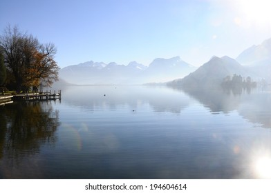 Annecy lake on morning in France, from Talloires