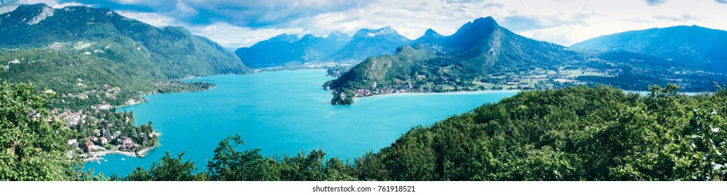 Annecy panoramic view lac menthon st bernard bay