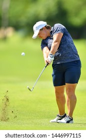 Anne-Lise Caudal of France in action during The Ladies European Thailand Championship 2019 Round 2 at Phoenix Gold Golf&Country Club on June  21, 2019 in Pattaya Chonburi, Thailand.