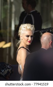 ANNES, FRANCE - MAY 20: Singer Gwen Stefani is spotted leaving the 'Martinez' hotel on May 20, 2011 in Cannes, France
