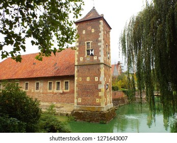 Annette von Droste-Hülshoff - The bailey of Hülshoff Castle, where the German poet Annette von Droste-Hülshoff was born. Münster / NRW, Germany 09/14/2014