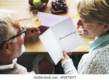 Anniversary Couple  Letter Concept