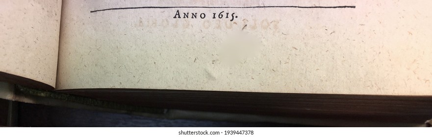 """""""Anno 1615"""" [in the year 1615] printed on the title page of a book published that year"""