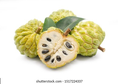 Annona or Custard apple isolated on white background