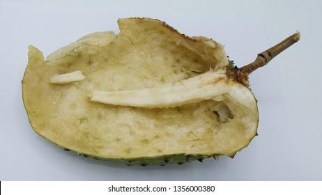 Annona muricata.Soursop fruit (Sugar Apple ,custard apple ) isolated on white background