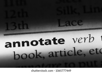 annotate word in a dictionary. annotate concept.