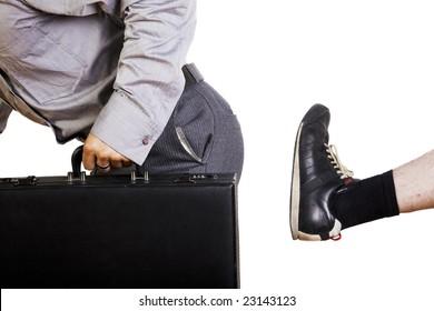 An annoying, door-to-door salesman gets the boot.