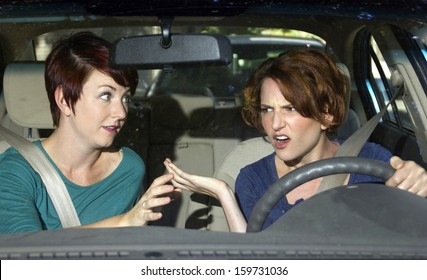"annoying female passenger by being a ""backseat driver"""
