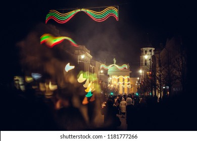 Annual celebration of Lithuanian independence takes place on February 16 in Gediminas avenue in Vilnius old town