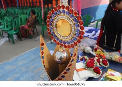 Annual school sports winners trophy
