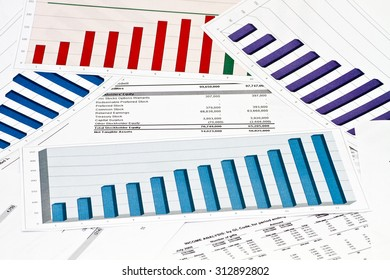 Annual statement report on charts and graphs