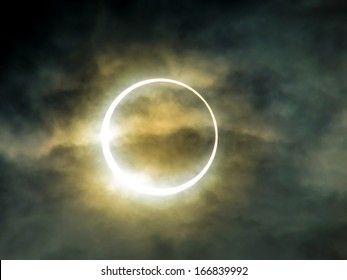 An annular eclipse, May 2012, Tokyo, Japan