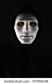 Anonymous social masking or halloween concept.