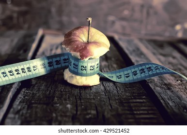 anorexia thinness measuring apple