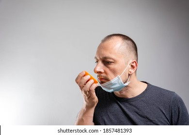Anosmia or smell blindness, loss of the ability to smell, one of the possible symptoms of covid-19, infectious disease caused by corona virus
