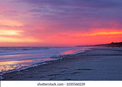 Another beautiful Hilton Head Island sunset on a January evening.