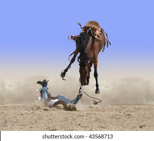 Another Cowboy Bites the Dust isolated with clipping path