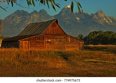 Another Granddaddy - Mormon Barn in the Grand Tetons
