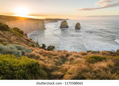Another side of 12 apostles at sunrise