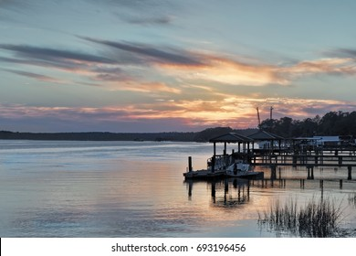 """""""Another View of the May River"""" Evening on the May River tidal estuary as it flows by Bluffton, SC."""