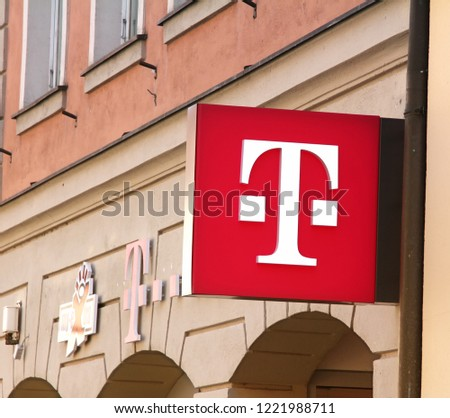 Ansbach Germany 21042018 T Mobile Brand Name Stock Photo