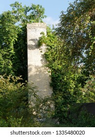 Anse Bertrand, Guadeloupe/France : 02/11/2019 : Chimney of the old sugar factory of Mahaudiere in Guadeloupe