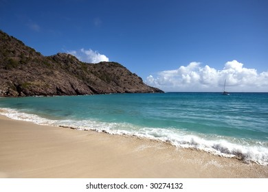 Anse de Gouverneur on the caribbean rich and famous island of St Barths (French West Indies)