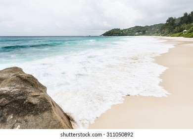 Anse Intendance in the south of Mahe, Seychelles during a storm