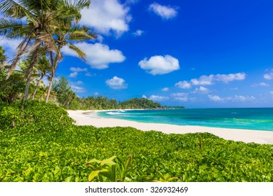 Anse Kerlan - Tropical beach in Seychelles, Praslin